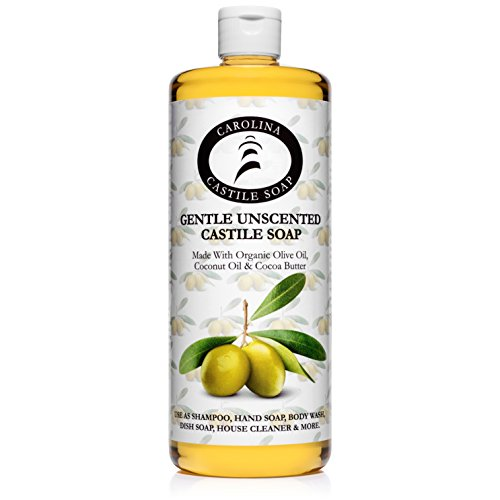 Carolina Castile Soap Gentle Unscented | Certified Organic - 32 oz