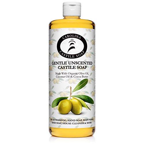 - Carolina Castile Soap Gentle Unscented | Certified Organic - 32 oz
