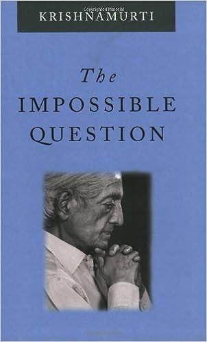 Book The Impossible Question by Jiddu Krishnamurti (2003-06-05)