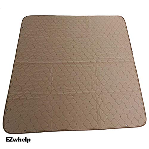 """EZwhelp 41""""x41"""" (with Grommets for Use with Bungees) Machine Washable, Reusable Pee Pad/Quilted, Fast Absorbing Dog Whelping Pad/Waterproof Puppy Training Pad/Housebreaking Absorption Pads from EZwhelp"""