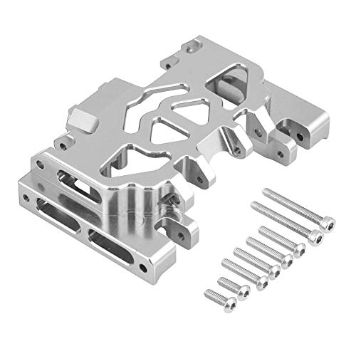 (Dilwe RC Chassis Protector, Aluminium Alloy Middle Gearbox Chassis RC Upgrade Part for TRAXXAS TRX4 Land Rover Defender(Silver))
