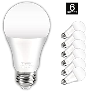 100 Watt Indoor Flood Light Bulbs: TIWIN A19 E26 LED Light Bulbs 100 watt equivalent (11W), Daylight (5000K,Lighting