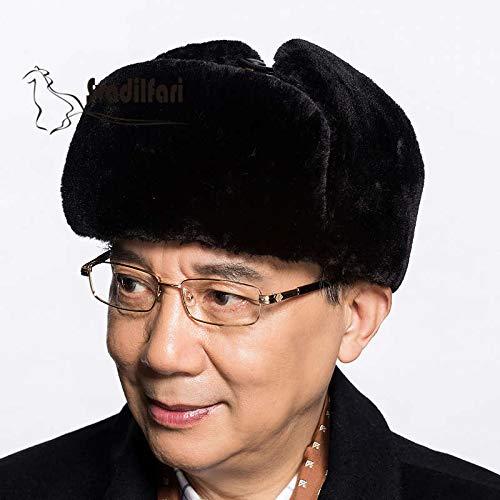 KAIJIN Vieux Lei Feng Chapeau Homme Hiver En Plein Air Épais Chaud Cache-Oreilles En Cuir Chapeau Chapeau Homme Hiver En Plein Air Équitation Ski
