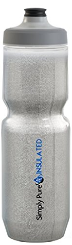 Purist 23 Oz Insulated Water Bottle with Watergate Cap Sport Bottle - Stays 20% Colder Than Other Insulated Bottles (Silver, Watergate)