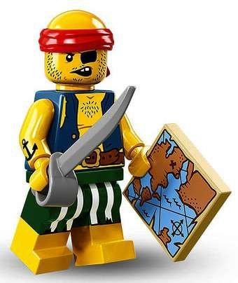 LEGO Series 16 Collectible Minifigures - Scallywag Pirate (71013)]()
