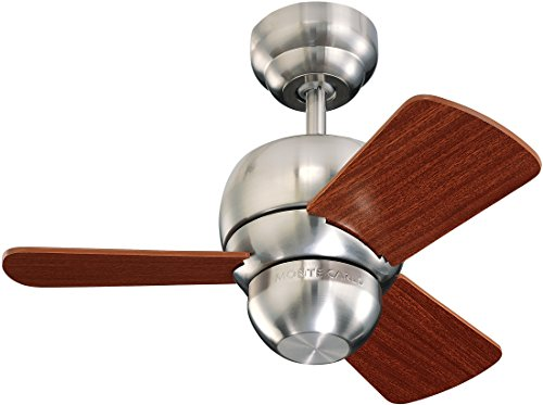 Monte Carlo 3TF24BS 3TF24BS-Micro 24 3-Blade Ceiling Fan, 24 Inches, Brushed Steel from Monte Carlo