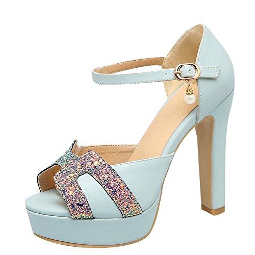 Eleganti Scarpe Donna Tacco Azzurro Col Misssasa BznIRTwnx