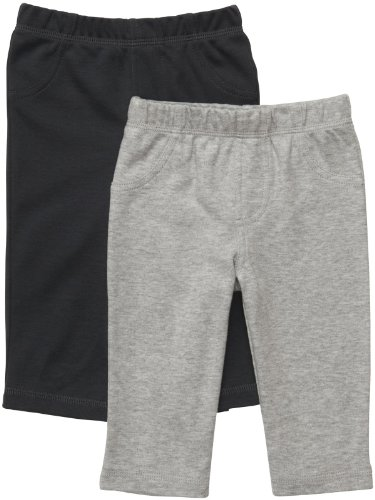 Carter's Baby Boys' 2-Pack Pant  - Gray/Heather Gray -  12 Months