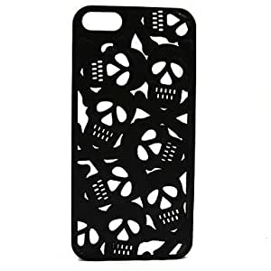 LX 3D Hollow Out Anaglyph Stereoscopic Skull Phone Cases for iPhone 5/5S Color White