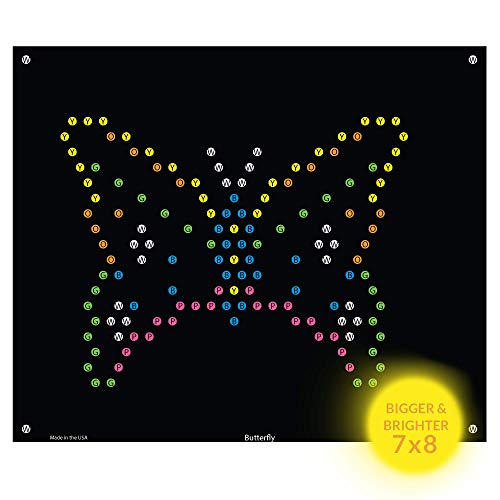 Lite-Brite Ultimate Classic Refills (7X 8) | Little Miss Princess Unicorn Butterflies | Incompatible with Old Retro Lite Bright Toy | 10 Pack