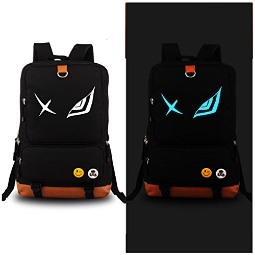 Luminous in Dark Noctilucent Kill La Kill Anime Cosplay Backpack Daypack Shoulder School Bag(Black)