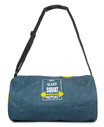SUNVIBE Polyester 44 cm Duffle Gym Bag with Shoes Compartment