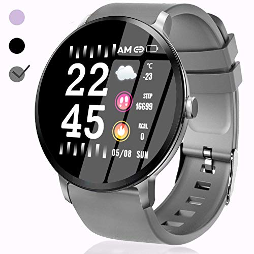 Smart Watch for Men - Fitness GPS Tracker Plus 1.3'' IPS with Heart Rate Monitor Blood Pressure Blood Oxygen Monitor Running Activity Sport Band Camera Music Control for Android/iOS School Deal Gifts