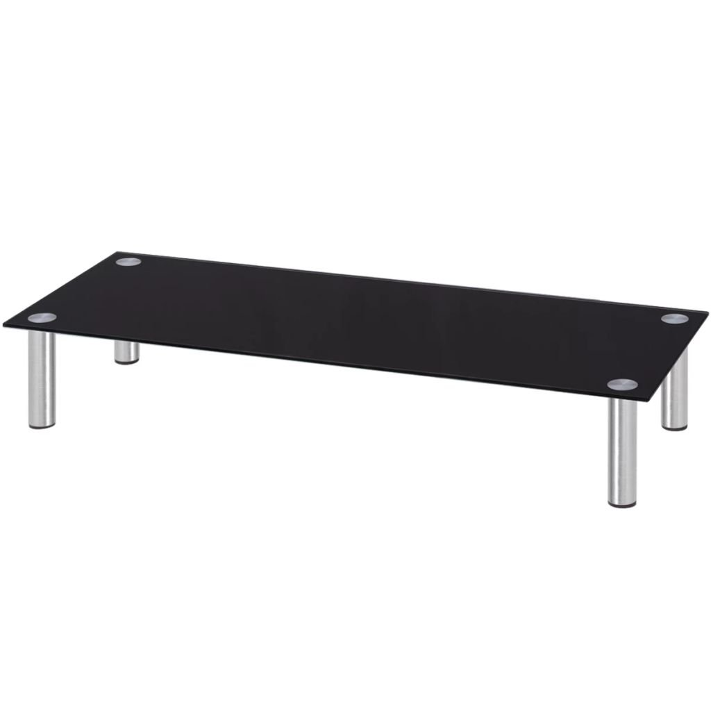 vidaXL TV LCD Stand Monitor Riser Media Entertainment Center Table Shelf Black