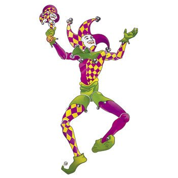 Large Jester Jointed Cutout (Jester Cut Out)
