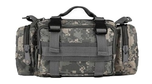 Ultimate Arms Gear ACU Army Digital Camo Camouflage 5 in 1 Tactical Modular Deployment Compact Utility Carry Bag MOLLE Case Heavy Duty Combat Multi-Functional Equipment Survival Assault Transport Compatible Pistol Gun Camera Electronic Device Gear Pack with Adjustable Slip Shoulder Detachable Length Straps Modular PALS Attachment System Shooting Range Patrol