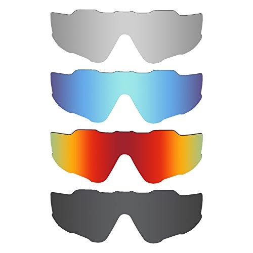 Mryok 4 Pair Polarized Replacement Lenses for Oakley Jawbrea