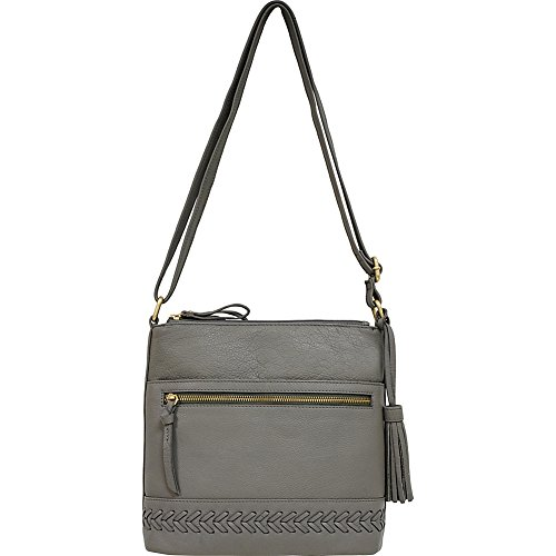 American Leatherworks Great Triple Entry Gray South North Crossbody qUdwfdC