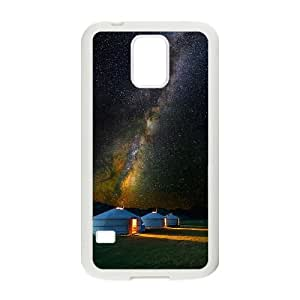 Samsung Galaxy S5 Cell Phone Case White Mongolian Yurt under Starry JNR2214610