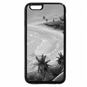 iPhone 6S Case, iPhone 6 Case (Black & White) - Mountain Lake