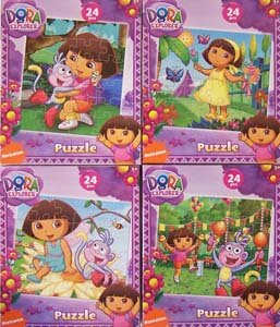 Amazon Com Dora The Explorer 24pc Yellow Dress Puzzle