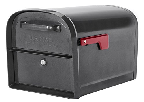 Oasis Curbside Locking Mailbox - Architectural Mailboxes 6300P-10 Locking Parcel Mailbox, X-Large, Pewter