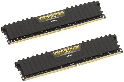 Corsair Vengeance LPX 32GB (2x16GB) 2133MHz C13 DDR4 DRAM Memory Kit – Black