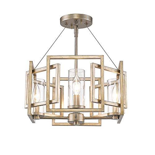 Slvr Golden Lighting 3604-L PW-SF One Light Pendant