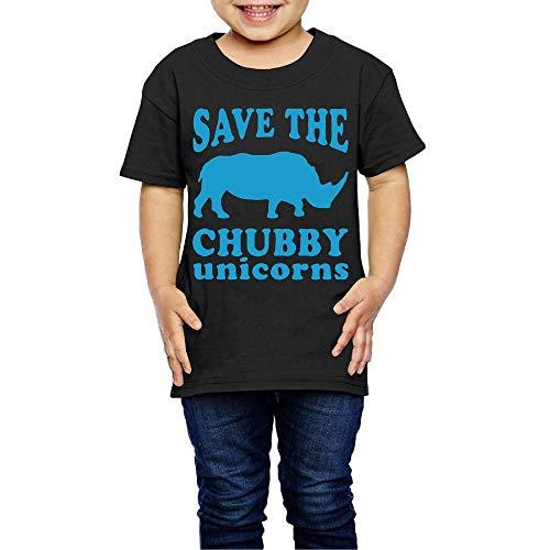 Save The Chubby Unicorns Costume Infant Kids Crew Neck Short Sleeve Shirt Tee for 2-6 -