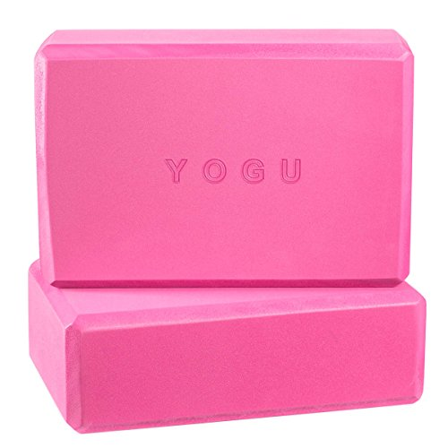 "Yoga Blocks, Set of 2 By Yogu (Pink, 9""x6""x3"")"