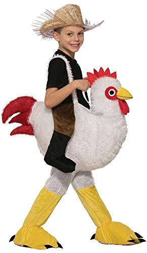 Kid's Ride-On Chicken Costume White