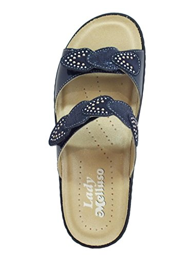 Pour Chaussons Chaussons Femme Chaussons Melluso Bleu Pour Femme Melluso Bleu Melluso 0CnIq8HU