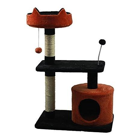 Juguete rascador para gatos Nobleza tipo árbol con varias plataformas y cueva, alto 87cm.: Amazon.es: Hogar