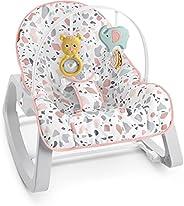 Fisher Price Cadeirinha Descanso Relaxante Rosa, Cadeira para bebê em Estágio de desenvolvimento, com vibraçõe