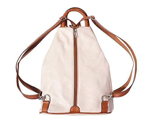 in 2061 amp; Florence Backpack Tan Italian Bag Italy Shoulder Leather Dark Brown Beige Handcrafted nxqBWfwUAW