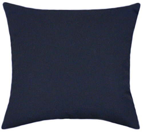 Sunbrella Navy Indoor Outdoor Solid Patio Pillow 18×18