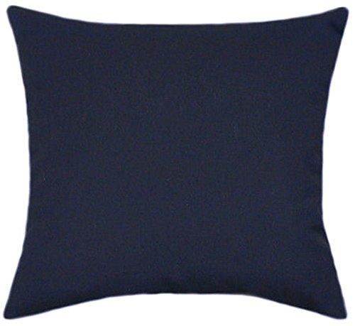 Sunbrella Navy Indoor/Outdoor Solid Patio Pillow 14x14 (Small) by TPO Design