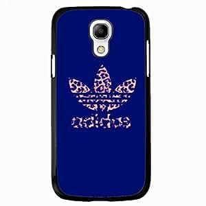 Blue Background Adidas Logo Phone Case Black Hard Plastic Case Cover Snap On Samsung Galaxy S4 MINI,Adidas Logo Samsung Galaxy S4 MINI Case(Black)