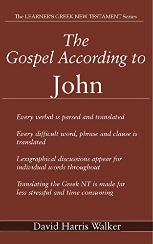 The Gospel According to John (The Learner's Greek New testament Book 15) (English Edition)