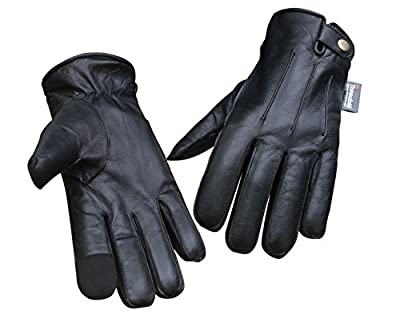 Soft Sheep Leather Fashion Winter Women Gloves Outdoor Driving Cycling Black