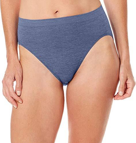 Bali Women's Comfort Revolution Seamless High-Cut Brief Panty, Chateau Blue, 9