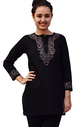 AV-Aditi-Pure-Cotton-Hand-Emb-Tunic-Black-16W