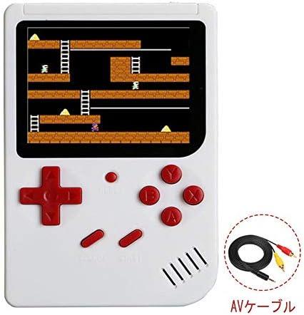 シュミ ミニモバイルバッテリー ポータブルゲーム機 300種ゲームin1 レトロゲーム 3.0インチ (白)