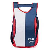 Chris & Kate Red & Navy Blue Stylish New Casual Backpack | Laptop Bag