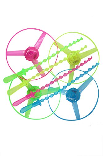 Children Toy Kids Gift Flying Saucer Toy 4 pcs LED Frisbee Light Up Twisty Flying UFO Helicopter Toys Manual Spin Toy Boomerangs r Outdoor/Holiday/Picnic/Travel/Leisure/Sport(Green&Yelow&Blue&red)