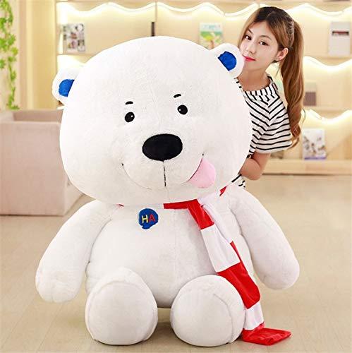 DishyKooker 120 cm Enorme Pop Cartoon Orso Bianco Peluche Peluche Anime Polar Bear Pillow Doll Bambini e Adulti Regalo 119,4 cm bianca Bear 60cm 24inch