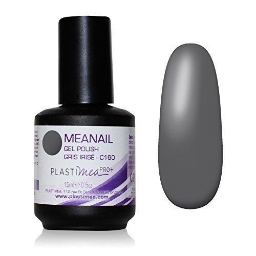 UV Nagellack Gel Meanail für UV/LED Lampe - Irise Grau - C160