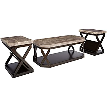 Wondrous Ashley Furniture Signature Design Radilyn Occasional Table Set End Tables And Coffee Table 3 Piece Rectangular Gray Faux Marble Top With Caraccident5 Cool Chair Designs And Ideas Caraccident5Info