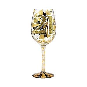 Lolita Birthday Wine Glass with Bottle Opener (21st Birthday)