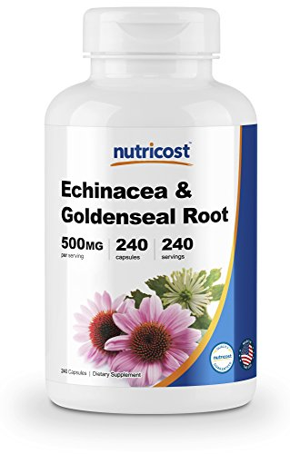 - Nutricost Echinacea & Goldenseal Root, 500mg, 240 Capsules - High Quality Veggie Caps, Non GMO, Gluten Free